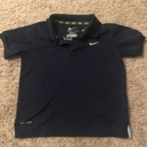 Nike golf shirt navy blue